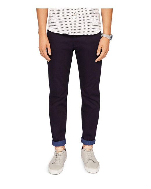 Ted Baker | Sirrius Straight Fit Jeans In Dark Blue for Men | Lyst