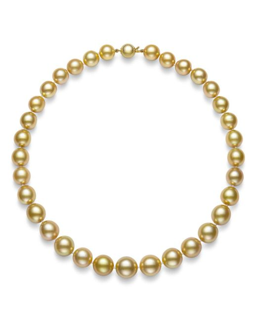 Bloomingdale's Metallic Golden South Sea Pearl Collar Necklace In 14k Yellow Gold