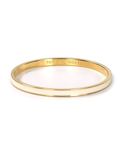 Kate Spade - Natural Tickle The Ivories Idiom Bangle - Lyst