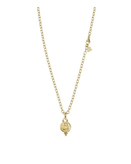 Temple St. Clair | Metallic 18k Gold Angel Pendant | Lyst