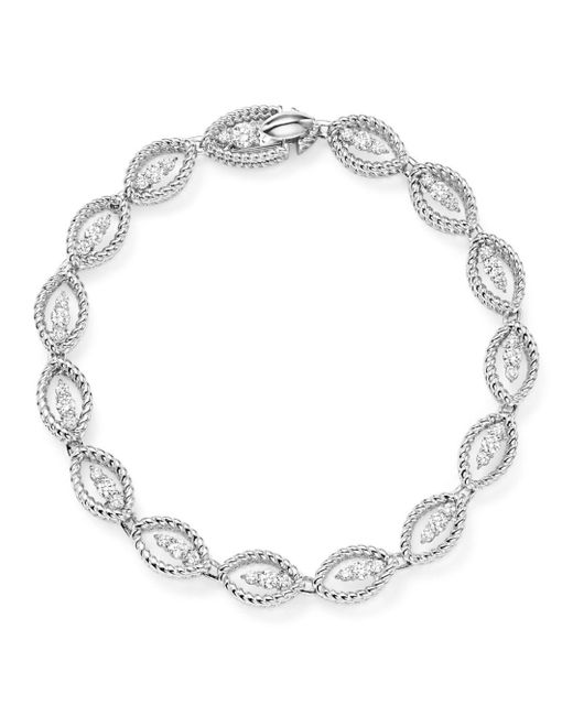 Roberto Coin - 18k White Gold New Barocco Diamond Bracelet - Lyst