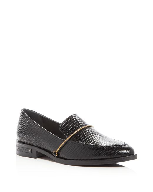 Frēda Salvador | Black Light Embossed Loafers | Lyst