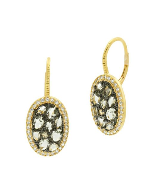 Freida Rothman - Metallic Rose Dor Stone Earrings - Lyst
