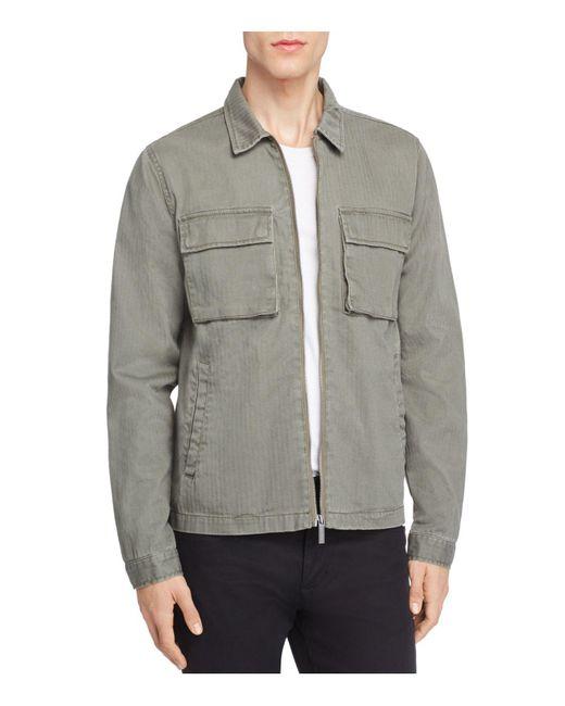 Native Youth   Green Lieutenant Herringbone Shirt Jacket for Men   Lyst