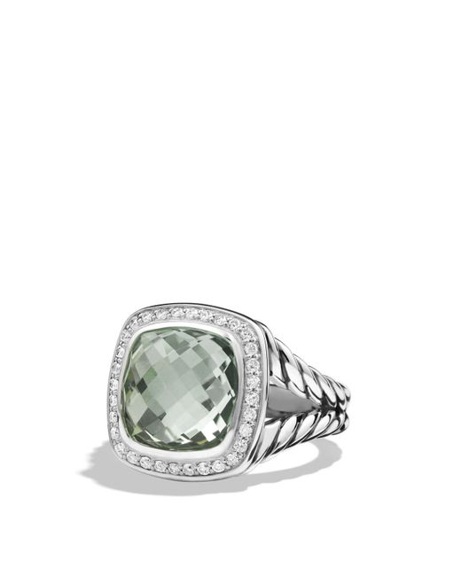 David Yurman | Metallic Albion Ring With Prasiolite And Diamonds | Lyst