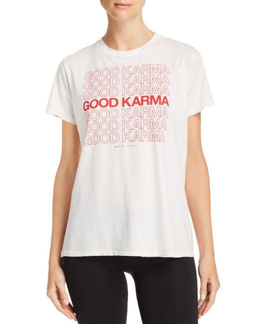 Spiritual Gangster - White Good Karma Aurora Tee - Lyst