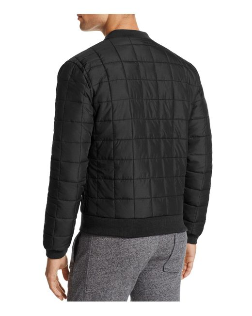 Superdry Surplus Goods Box Quilted Bomber Jacket In Black