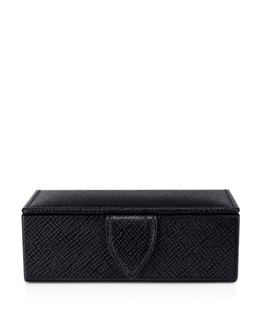 Smythson | Black Mini Cufflink Box for Men | Lyst