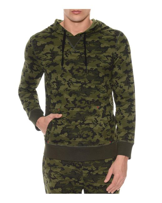 2xist | Green Camouflage Terry Pullover Hoodie Lounge Sweatshirt for Men | Lyst