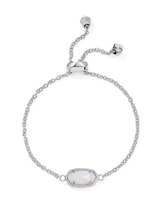 Kendra Scott   White Elaina Kyocera Opal Bracelet   Lyst