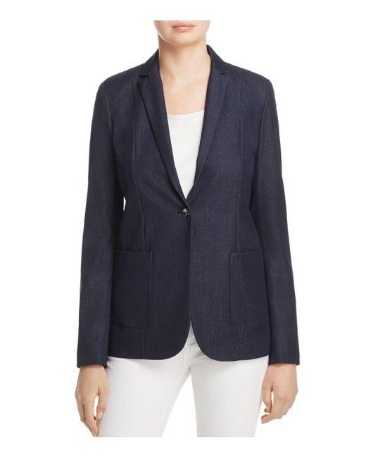 T Tahari | Blue Reisling Jacket | Lyst