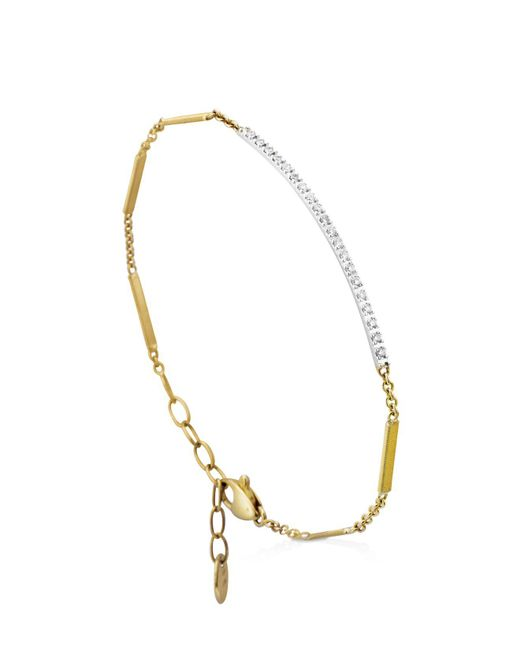 Marco Bicego | Metallic 18k Yellow Gold Goa Diamond Bar Bracelet | Lyst