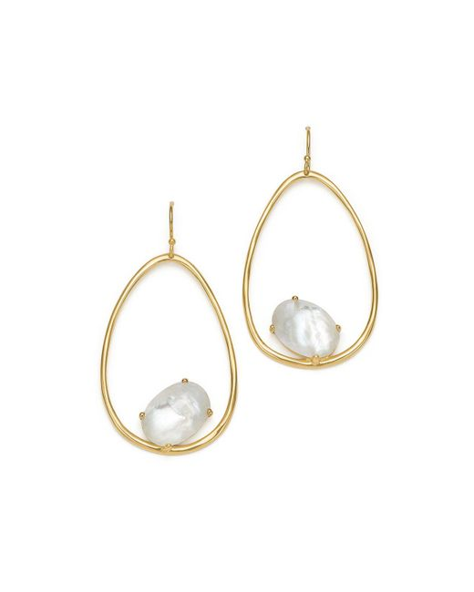 Ippolita - Metallic 18k Yellow Gold Rock Candy® Mother-of-pearl And Clear Quartz Doublet Drop Earrings - Lyst