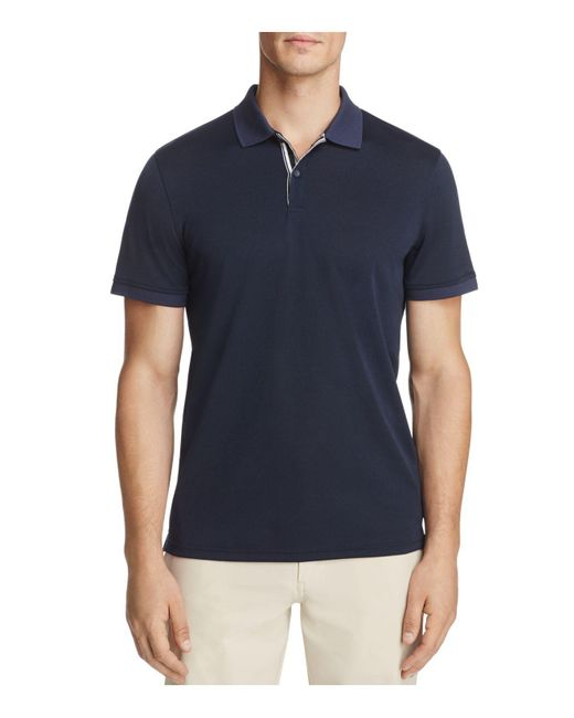 AG Green Label | Blue Berrian Short Sleeve Polo Shirt for Men | Lyst