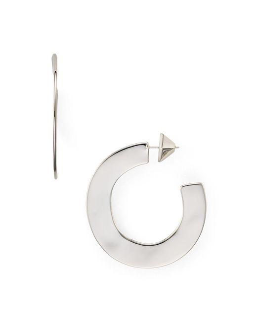 Alexis Bittar | Metallic Liquid Metal Sheet Hoop Earrings | Lyst
