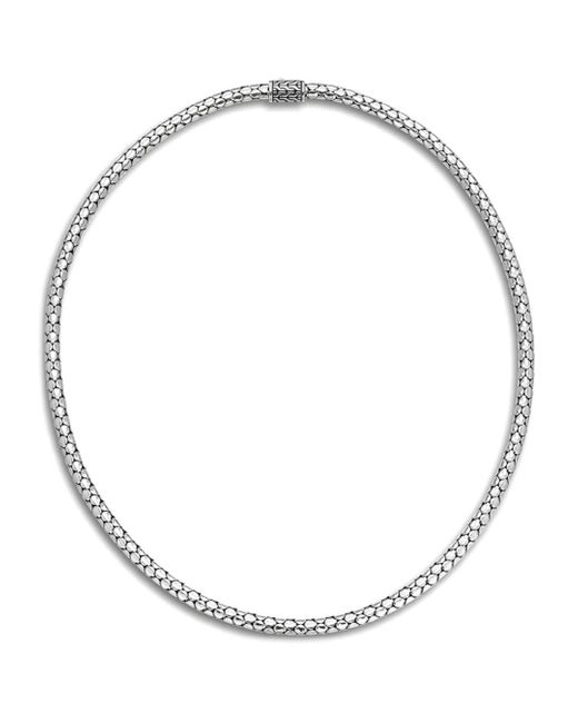John Hardy Metallic Dot Sterling Silver Small Chain Necklace/18