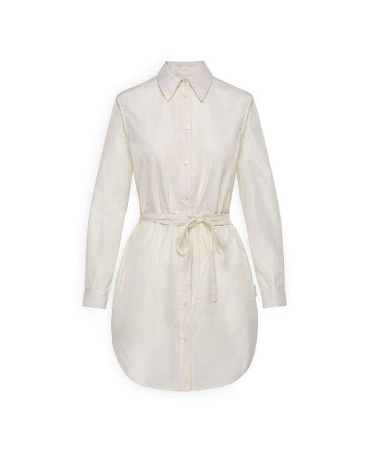 Moncler - Natural Tie-waist Button Front Shirt - Lyst