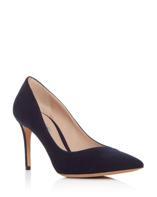 Giorgio Armani - Blue Women's Decollete Suede Pointed Toe Pumps - Lyst
