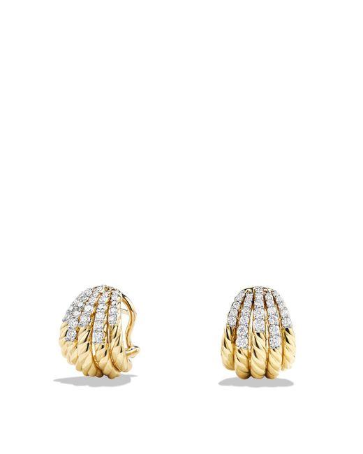 David Yurman - Metallic Tempo Earrings With Diamonds In 18k Gold - Lyst