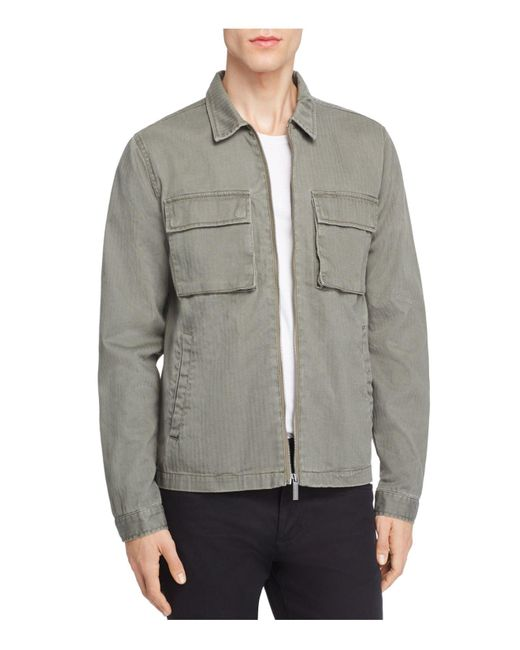Native Youth | Green Lieutenant Herringbone Shirt Jacket for Men | Lyst