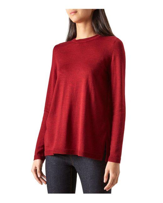 Hobbs   Red Cassidy Merino Wool-blend Sweater   Lyst