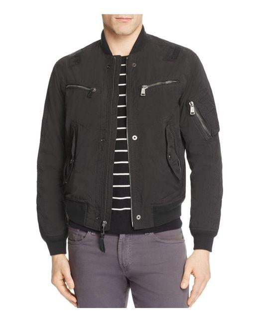 polo ralph lauren parachute bomber jacket in black for men. Black Bedroom Furniture Sets. Home Design Ideas
