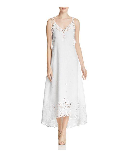 Theory | White Taytee Eyelet Dress | Lyst