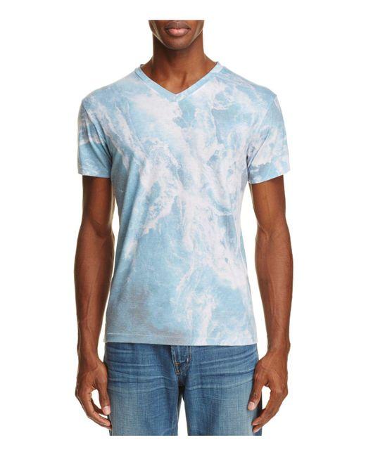 Sol Angeles   Blue Whirlpool Print V-neck Tee for Men   Lyst