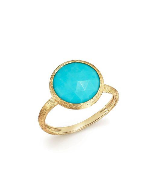 Marco Bicego | Metallic 18k Yellow Gold Jaipur Ring With Turquoise | Lyst