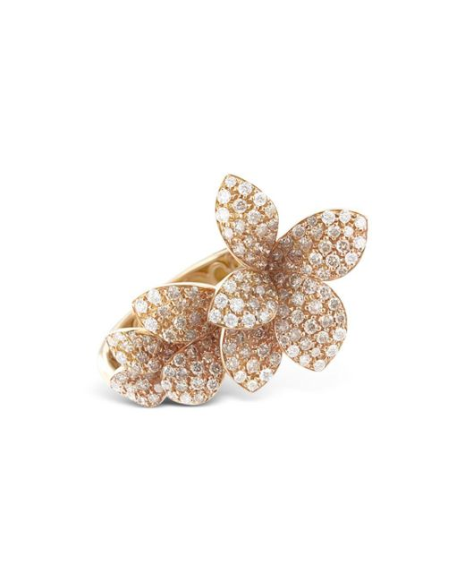 Pasquale Bruni Metallic 18k Rose Gold Stelle In Fiori White & Champagne Diamond Ring
