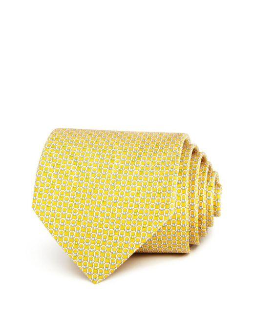 Ferragamo - Yellow Multi Gancini Classic Tie for Men - Lyst