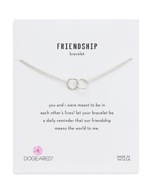 Dogeared - Metallic Double Link Rings Bracelet - Lyst