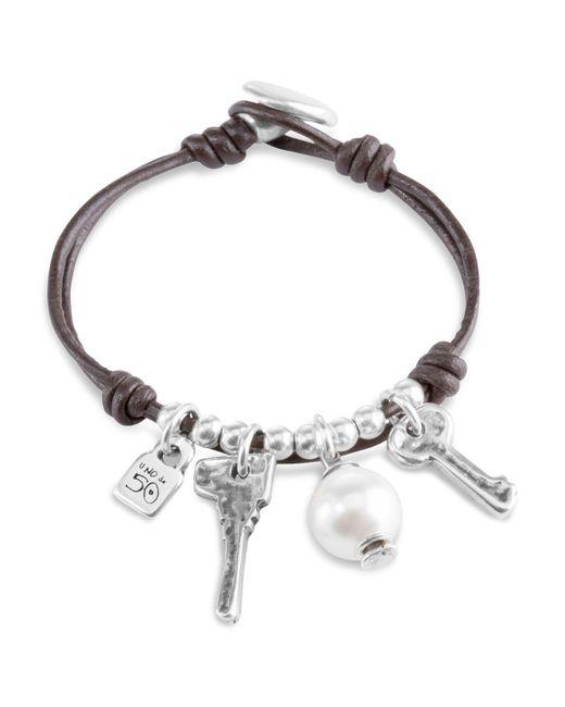 Uno De 50 | Metallic Ojito Toggle Bracelet | Lyst