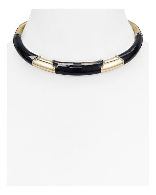 Alexis Bittar | Black Lucite Collar Necklace | Lyst