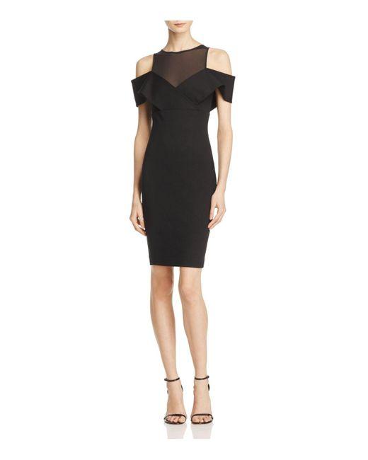Elliatt   Black Apparition Cold-shoulder Dress   Lyst