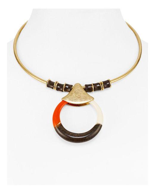 Robert Lee Morris   Metallic Crescent Collar Necklace   Lyst