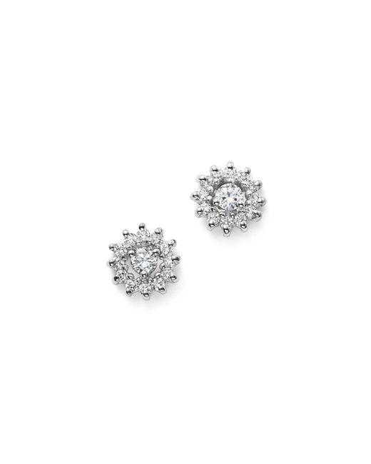 KC Designs | 14k White Gold Diamond Sunburst Earrings | Lyst