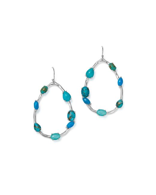 Ippolita | Blue Sterling Silver Rock Candy® Mixed Turquoise And Doublet Large Pear Frame Earrings | Lyst