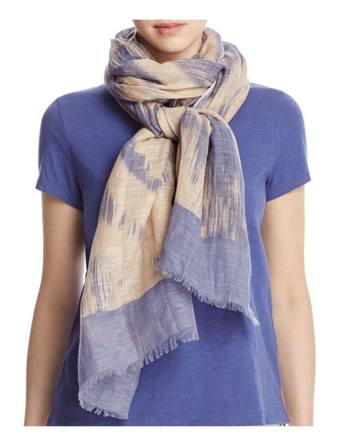 Eileen Fisher | Blue Abstract Print Scarf | Lyst