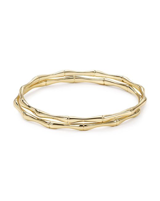 Aqua | Metallic Maria Bangles, Set Of 2 | Lyst