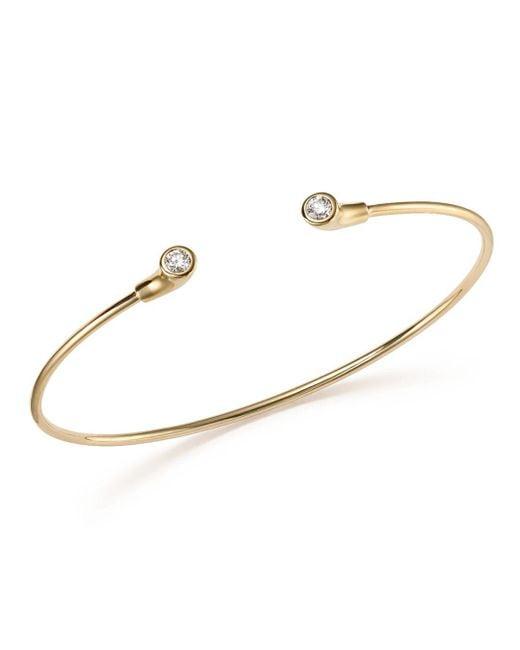 KC Designs - White 14k Yellow Gold Diamond Bezel Set Cuff - Lyst