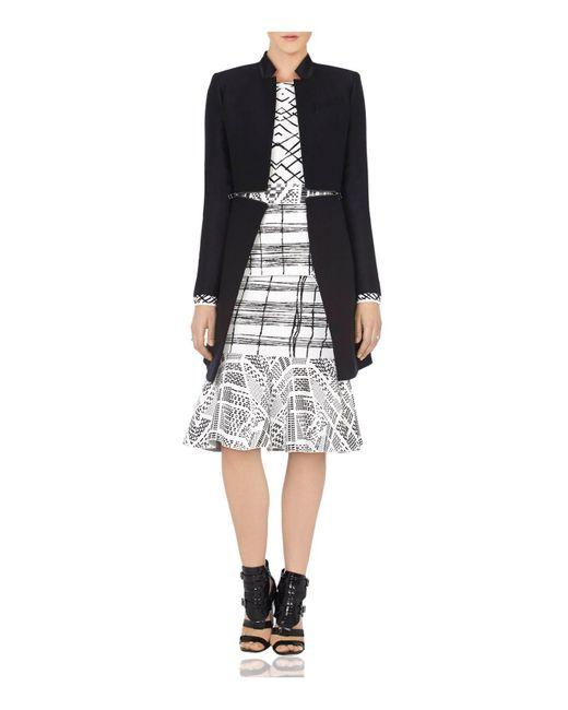 BCBGMAXAZRIA | Black Arelia Zip Waist A-line Jacket | Lyst