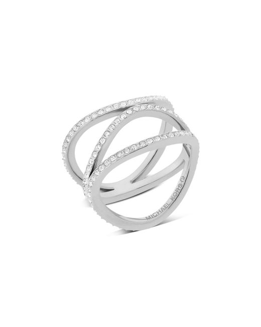 Michael Kors | Metallic Wavy Band Ring | Lyst
