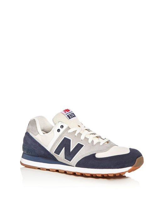 New Balance | Blue Men's 574 Retro Lace Up Sneakers for Men | Lyst