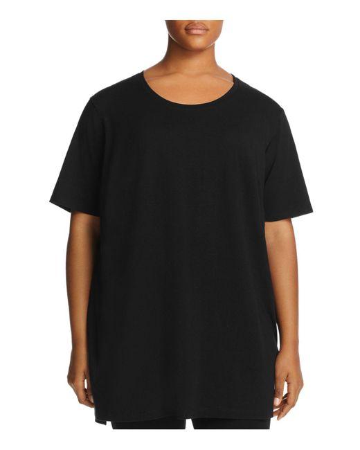 Eileen Fisher | Black Round-neck Tunic | Lyst