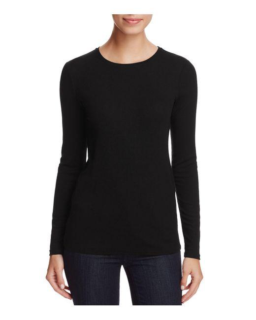 Eileen Fisher | Black Long Sleeve Slim Top | Lyst