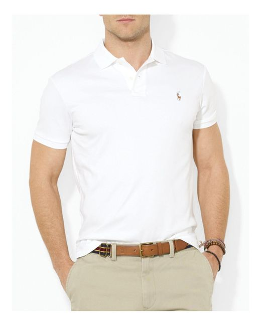 Polo Ralph Lauren   White Pima Soft-Touch Polo Shirt for Men   Lyst