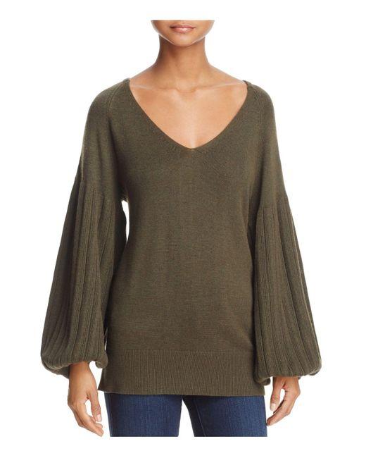 Ella Moss | Green Francesca Wide-sleeve Sweater | Lyst