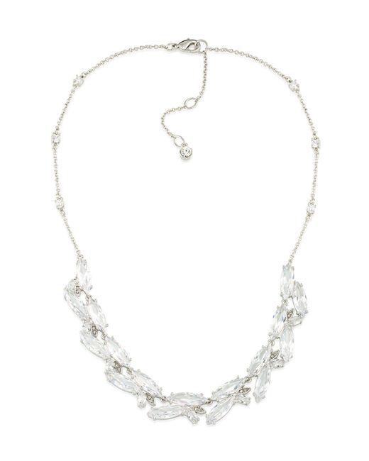Carolee | Metallic Marquee Cubic Zirconia Cluster Collar Necklace | Lyst
