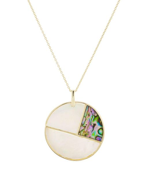 Argento Vivo Metallic Mother - Of - Pearl Mosaic Pendant Necklace In 18k Gold - Plated Sterling Silver